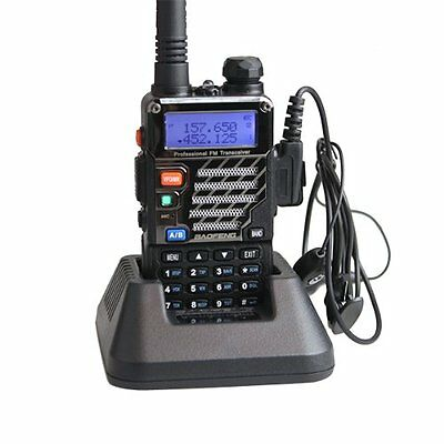 BAOFENG UV-5RE Walkie Dual Band Amateur Radio Two Way Radio with Earpiece New