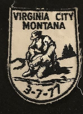 VIRGINIA CITY 3-7-77 Vintage Patch MONTANA State  Souvenir Travel VOYAGER