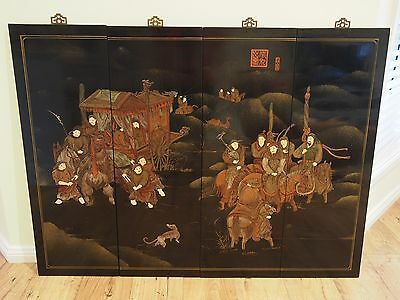 Vintage Oriental/chinese/japanese Style Painted Wall Panel~Painting