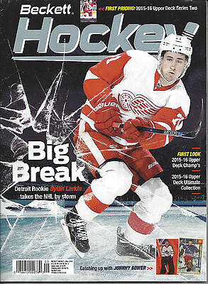 Dylan Larkin Cover Beckett NHL Price Guide May, 2016 Issue # 285