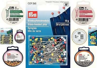 Prym Range of Assorted Pins, Glass Head, Quilters, Bridal, Extra Long, FREE POST