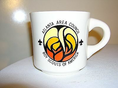 Vintage BSA BOY SCOUTS of America Atlanta Area Council Coffee MUG CUP