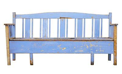 19Th Century Painted Swedish Pine Bench