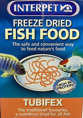Interpet Tubifex Cube Freeze Dried Fish Food 6x 5g 30g Treat Tropical Goldfish