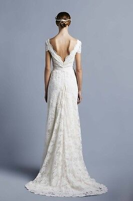 Collette Dinnigan French Lace Wedding Dress Gown XS/8 $8900