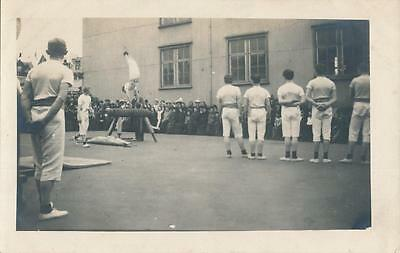 Rare 1910s GYMNASTICS Private Postcard Iceland person named on card