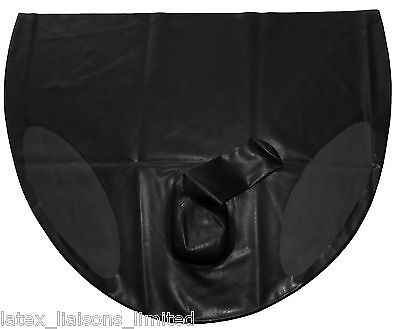 Black Latex Rubber All Over Male Briefs Extra Large  2nds BIN