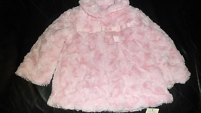 Girls pink coat by George - Age 12-18 months BNWT
