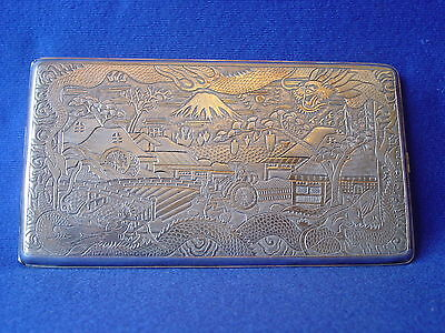 296 Grams Chinese Export Sterling Silver Cigarette Case Box Dragon Large