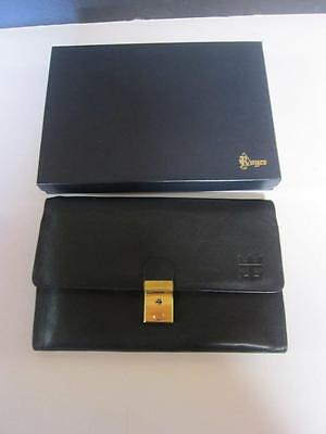 Royce Leather Document Holder Lock/key Passport Id Travel Wallet