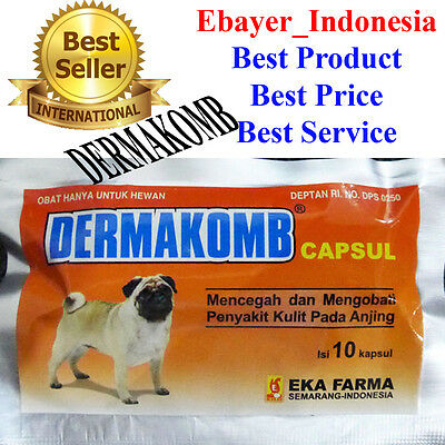 10 Caps Dermakomb Griseofulvin For Dog Treat Fungal Skin Infection/scabies/itchy