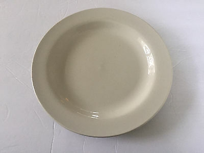"Vintage Unmarked Plain Off White Classic Restaurant Ware - 10-1/2"" DINNER PLATE"