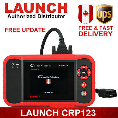 Launch X431 CRP123 OBD2 Diagnostic Tool Engine A/T ABS SRS For Chrysler Ford BMW