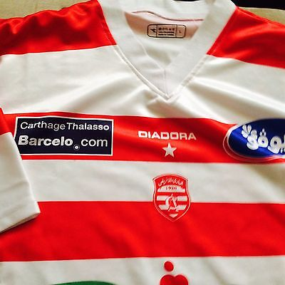 Club Africain Football Shirt #30 Diadora Size L (Africa's Biggest Club)