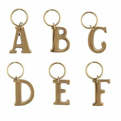 Gold Alphabetic Keyring Charm Alphabet Key Ring Initial Letter Keyrings
