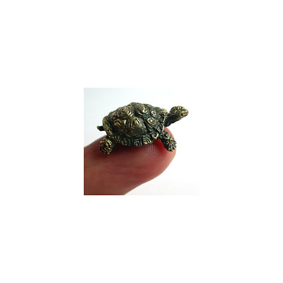 Tiny Solid Bronze Turtle Miniature by N.Fedosov.