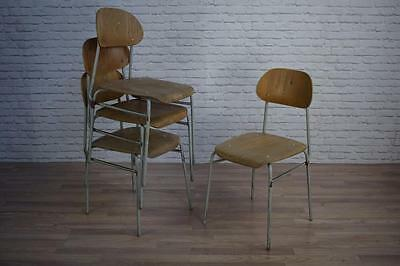 Vintage Industrial Stacking Cafe Bar Dining Chairs (40 AVAILABLE)