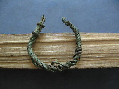 """""""bronze Age"""" Ancient Celtic Bronze Twisted Wire Earring 900-750 B.c."""