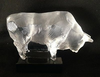 Shirley Temple Black Estate: French Cristal de Sevres Bull Figurine