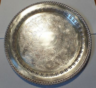 Antigue WM A ROGERS Silver Plated Serving Platter
