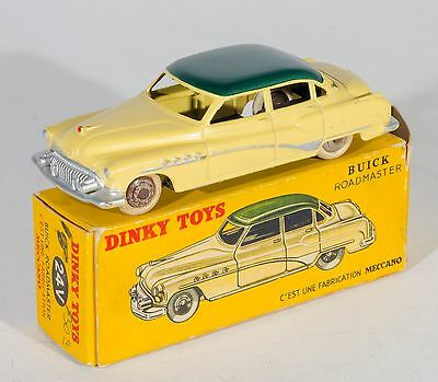 French Dinky 24V Buick Roadmaster. Yellow/Green. Boxed. RARE. Original 1950's