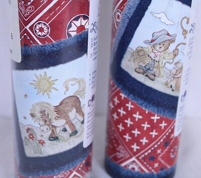 Dolly Lil Cowpoke Crib Nursery Cowboy Wallpaper Border Lot of 2 10 yd Spools