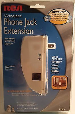 RCA Wireless Phone Jack Extension RC920 (For RCA RC 926, GE GE926, D916) New !!!