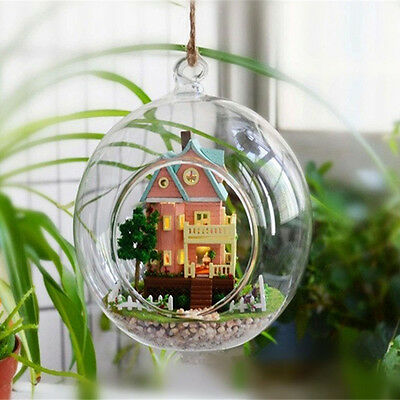Hot Sale Ball Hanging Glass Flowers Plant Vase Stand Holder Terrarium Container
