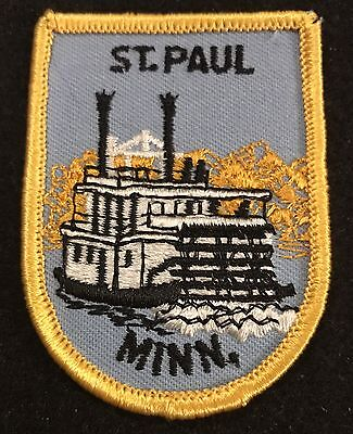 ST PAUL Vintage Patch MINNESOTA State Souvenir Travel Steamboat Embroidered