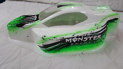"Kyosho MP9 Custom Painted Bodyshell ""MONSTER"" 1/8 Nitro buggy"