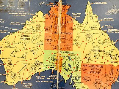 "SUPER RARE c1940's AUSTRALIAN BOARD GAME ""RACE ROUND AUSTRALIA"" BY J MACKINTOSH."