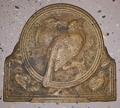 Antique Arts & Crafts Bronze Birdlings Julia Bracken Wendt Il Laguna Beach Ca La