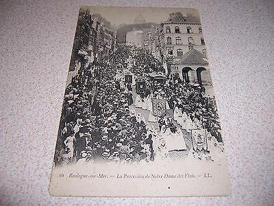 c.1900 THE PROCESSION OF OUR LADY OF FLOATS BOULOGNE SUR MER FRANCE POSTCARD
