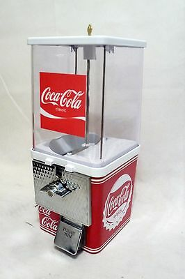 Coca cola coke vintage gumball machine 25 cent candy dispenser