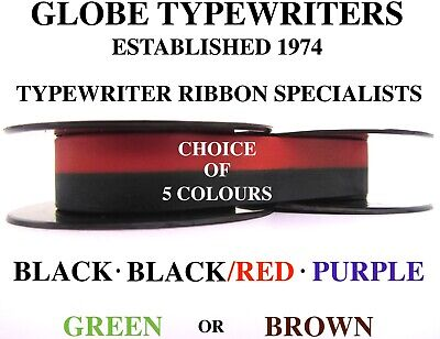 'adler Universal 20' *black*black/red*purple* Top Quality Typewriter Ribbon *10M