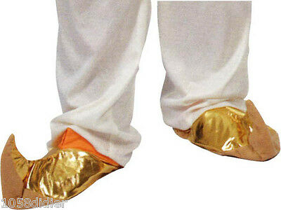 Slippers Gold Costume Aladdin Adult Man Suit Aladin Arab Génie