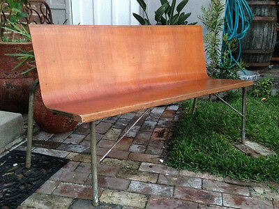 Vintage 50s Church Pews- (10 available) Bench Seat Cafe Bar Pub Antique Retro