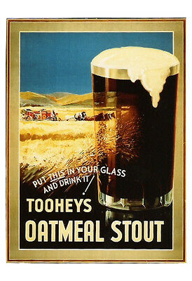 Tooheys Oatmeal Stout Harvesting 600x900mm genuine paper poster