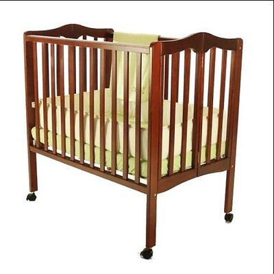 Portable Folding Crib for Baby Cherry 2in1 Lightweight Nursery Toddler Cradle