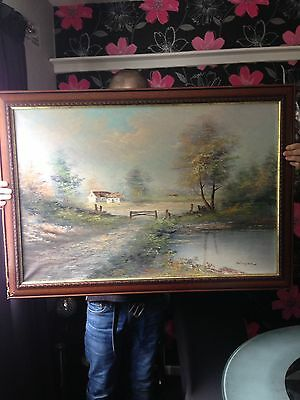 Early 20th Century Oil On Canvas Signed Edinger