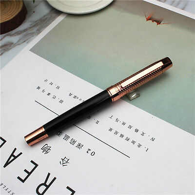 Black With Rose gold Metal rollerball Pen new free shipping