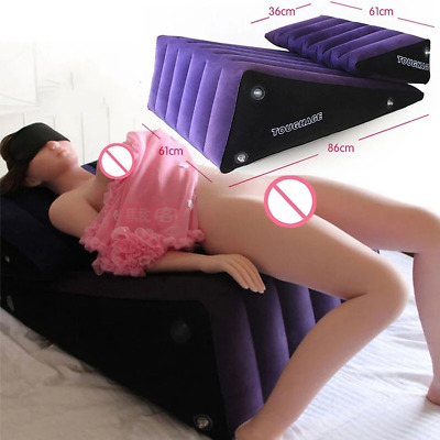 Toughage Sex Pillow Ramp Positioning Inflation Wedge Cushion Cuff Bolster PF3202
