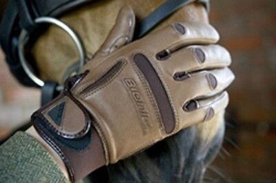 Bionic Mens Leather Classic Show Grip Gloves XL BROWN or BLACK *SALE WERE £39.99