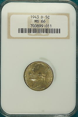 1943-D NGC MS66 Jefferson Nickel!! #E0572*