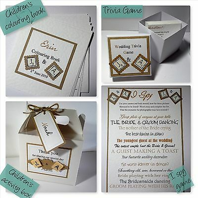 VINTAGE SCRABBLE wedding : TABLE GAMES & CHILDREN; 4 designs;60 colours/any qty