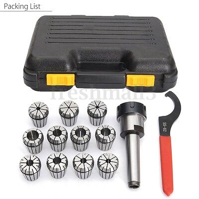 Precision ER32 Collet Set MT2 Shank Chuck & Spanner For Milling Machine With Box