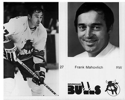 Frank Mahovlich Birmingham Bulls Unsigned Media 8x10 Photo