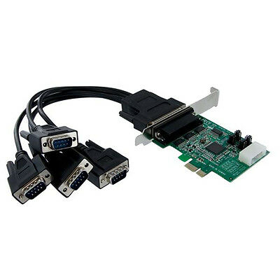 Brand NEW StarTech.com 4 Port Native PCI Express RS232 Serial Adapter Card with