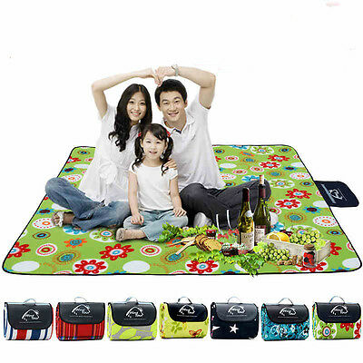 Waterproof Picnic Blanket Mat Rug Foldable Outdoor Camping Sand Beach Travel BBQ