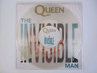 "Queen  :  The Invisible Man - Uk 12"" Single - Clear Vinyl Single Record (1989)"